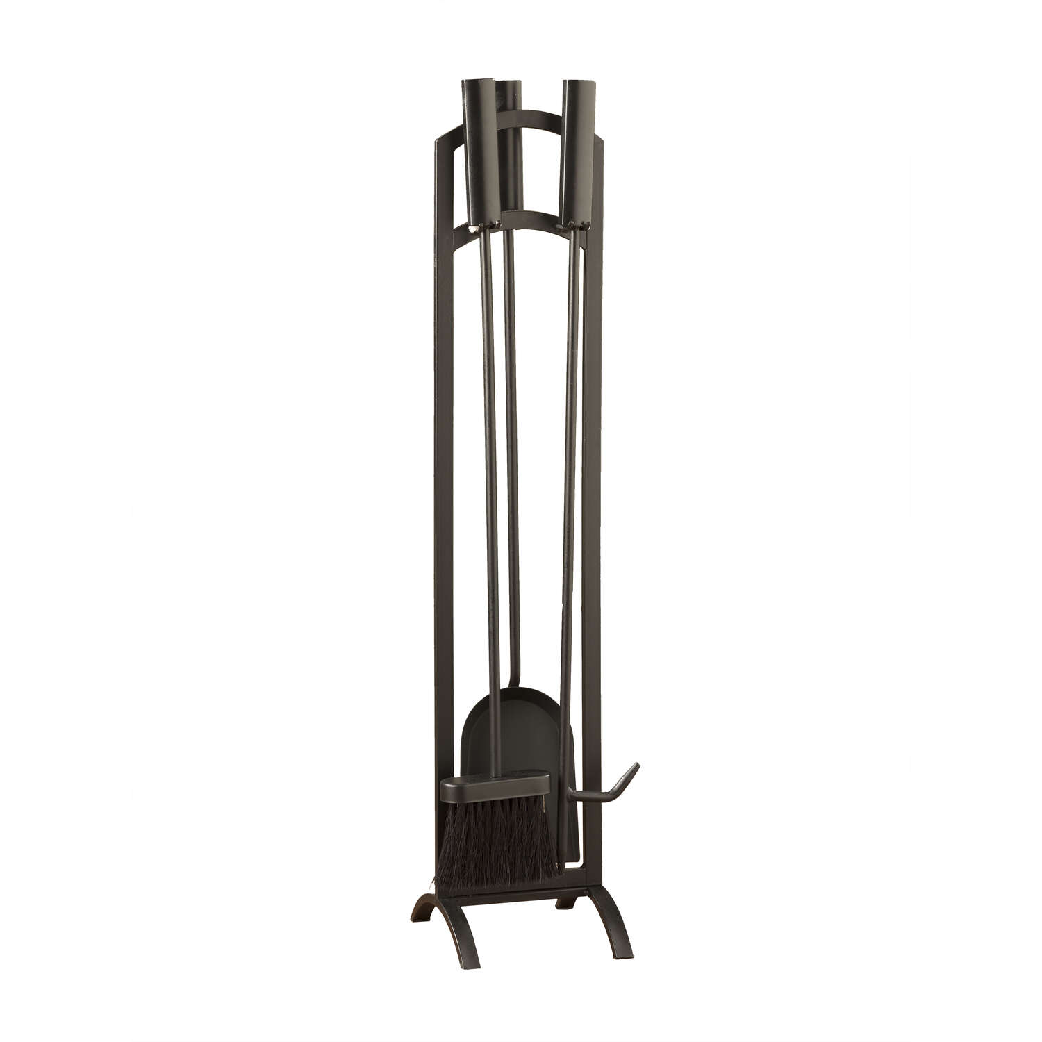 Panacea  Black  Matte  Steel  Fireplace Tool Set