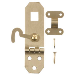 Ace  Solid Brass  Brass  2.8 in. L x 0.8 in. W 1 pk 2.8 in. Decorative Hasp w/Hooks