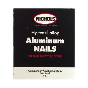 Nichols Wire  2-1/2 in. L Siding  Aluminum  Nail  Plain Shank  Round  1 lb.