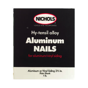 Nichols Wire  2-1/2 in. L Siding  Aluminum  Nail  Round Head Smooth  1  1 lb.