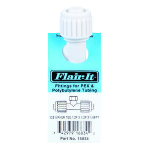 Flair-It  PEX  1/2 in. Dia. x 1/2 in. Dia. Tee Connector  White  1 pk