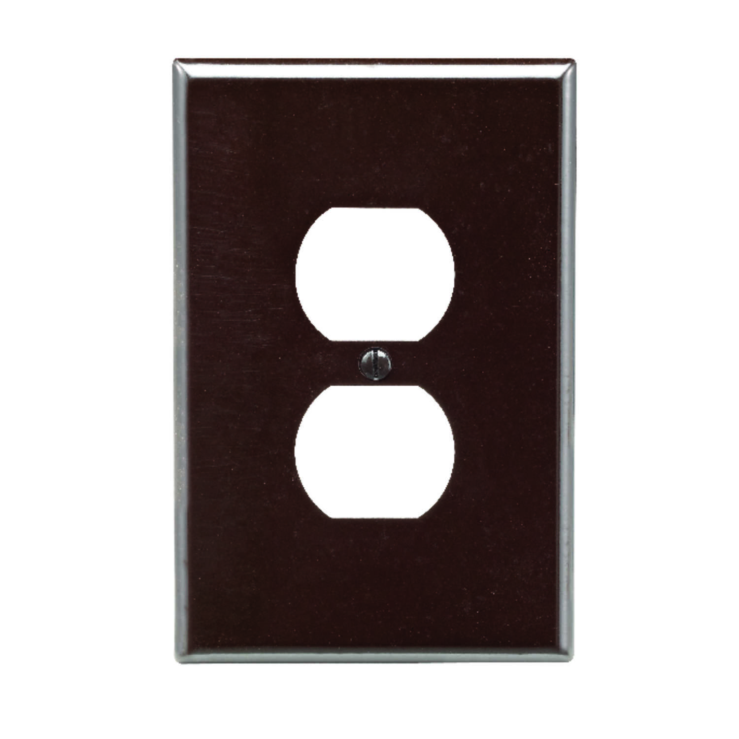 Leviton  Brown  1 gang Plastic  Duplex Outlet  Wall Plate  1 pk