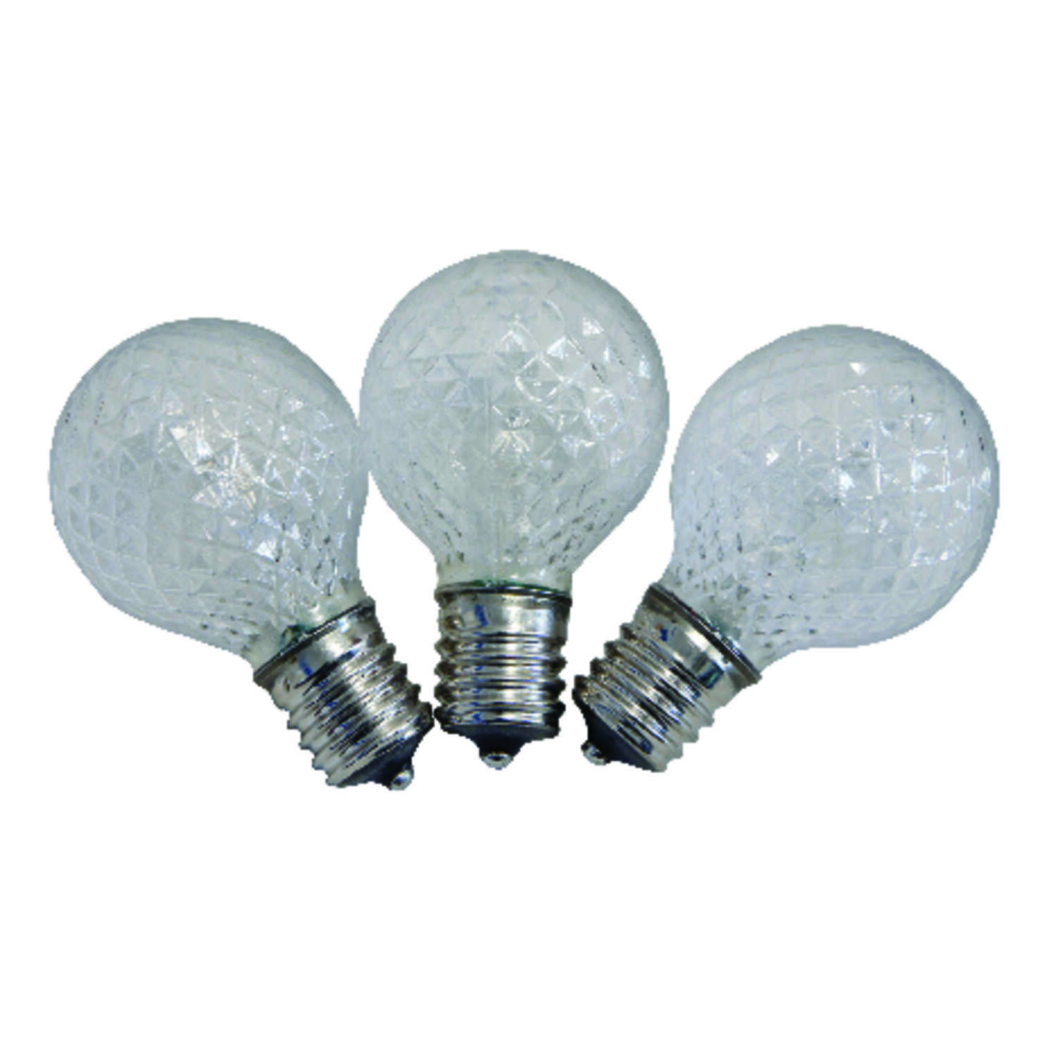 Celebrations  LED  G40  Replacement Bulb  Warm White  25 pk