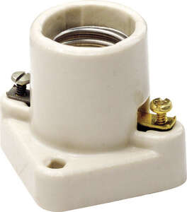 Leviton  Porcelain  Poney Cleat Socket  1 pk