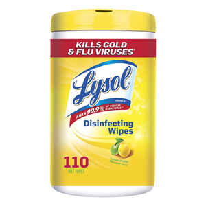 Lysol  Lemon & Lime Blossom Scent Antibacterial Disinfectant  110 pk Wipes