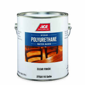 Ace  Satin  Clear  Water-Based  Poly Finish  1 gal.