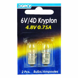 Dorcy  6V/4D  Krypton  Flashlight Bulb  2.2 volt Bayonet Base