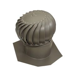 Air Vent  Air Hawk  18.4 in. H x 12 in. Dia. Weatherwood  Aluminum  Turbine and Base