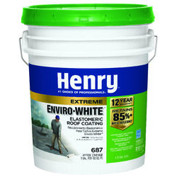 Henry  Smooth  White  Water Based  Roof Coating  4-3/4 gal.