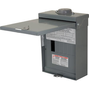Square D  HomeLine  100 amps 120/240 volt 6 space 12 circuits Wall Mount  Main Lug Load Center