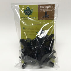 CDL Plastic Black Maple Syrup Tubing Tee