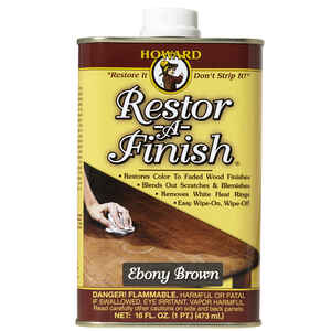 Howard  Restor-A-Finish  Semi-Transparent  Ebony Brown  Wood Restorer  1 pt. Oil-Based