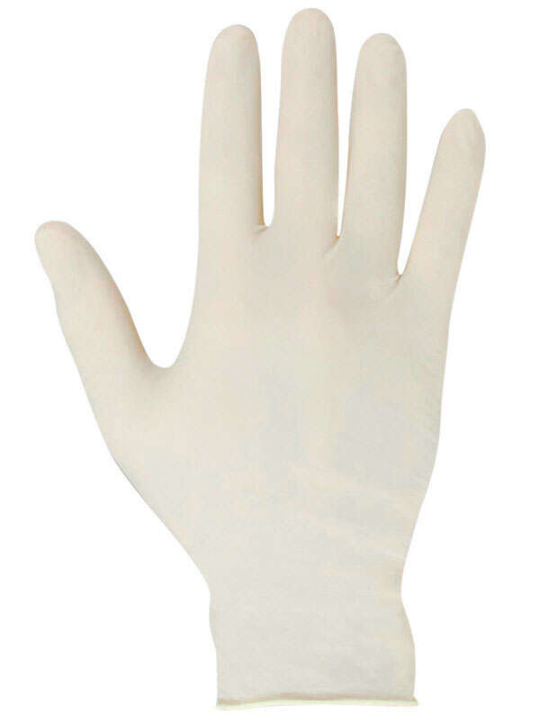 Soft Scrub  Latex  Disposable Gloves  One Size Fits Most  White  Powder Free  10 pk