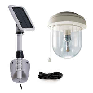 Gama Sonic  Light My Shed IV  6.5 in. 3 watts LED  String Work Light  1 pk