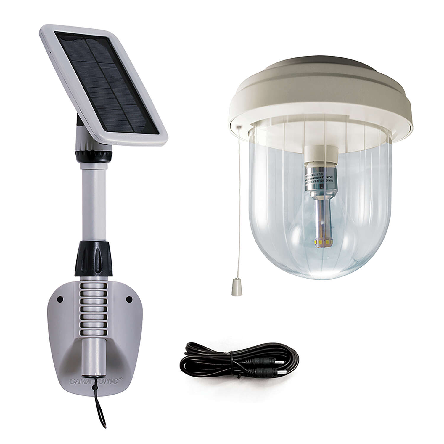 Gama Sonic  Light My Shed IV  Solar Powered  LED  Area Light