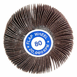 Forney  3 in. Dia. x 1/4 in.  Aluminum Oxide  Flap Wheel  60 Grit 20000 rpm 1 pc.