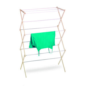 Homz  42 in. H x 29 in. W x 14 in. D Wood  Clothes Drying Rack