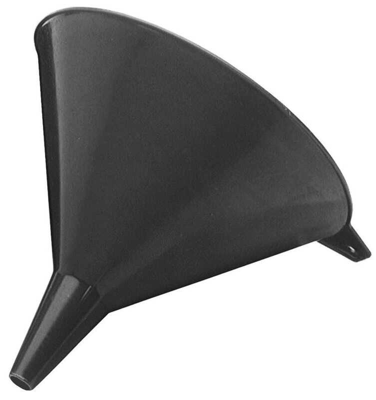FloTool  Black  9.1 in. H Resin  2 qt. Funnel