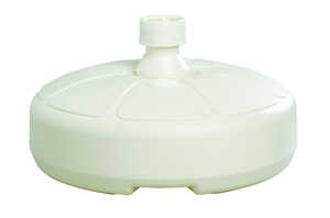 Adams  White  Resin  14-1/2 in. W x 5-1/2 in. H Umbrella Base