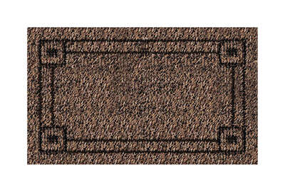 GrassWorx 30 in. L x 18 in. W Brown Nonslip Door Mat