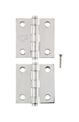 Ace  1.1 in. W x 2 in. L Stainless Steel  Narrow Hinge  2 pk