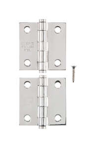 Ace  1.1 in. W x 2 in. L Stainless Steel  Steel  Narrow Hinge  2 pk