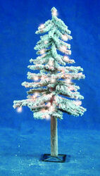 Holiday Bright Lights  Flocked Alpine  Prelit 50 count Artificial Tree