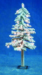 Holiday Bright Lights  Clear  3 ft. Flocked  Prelit Artificial Tree  191 tips 50 lights