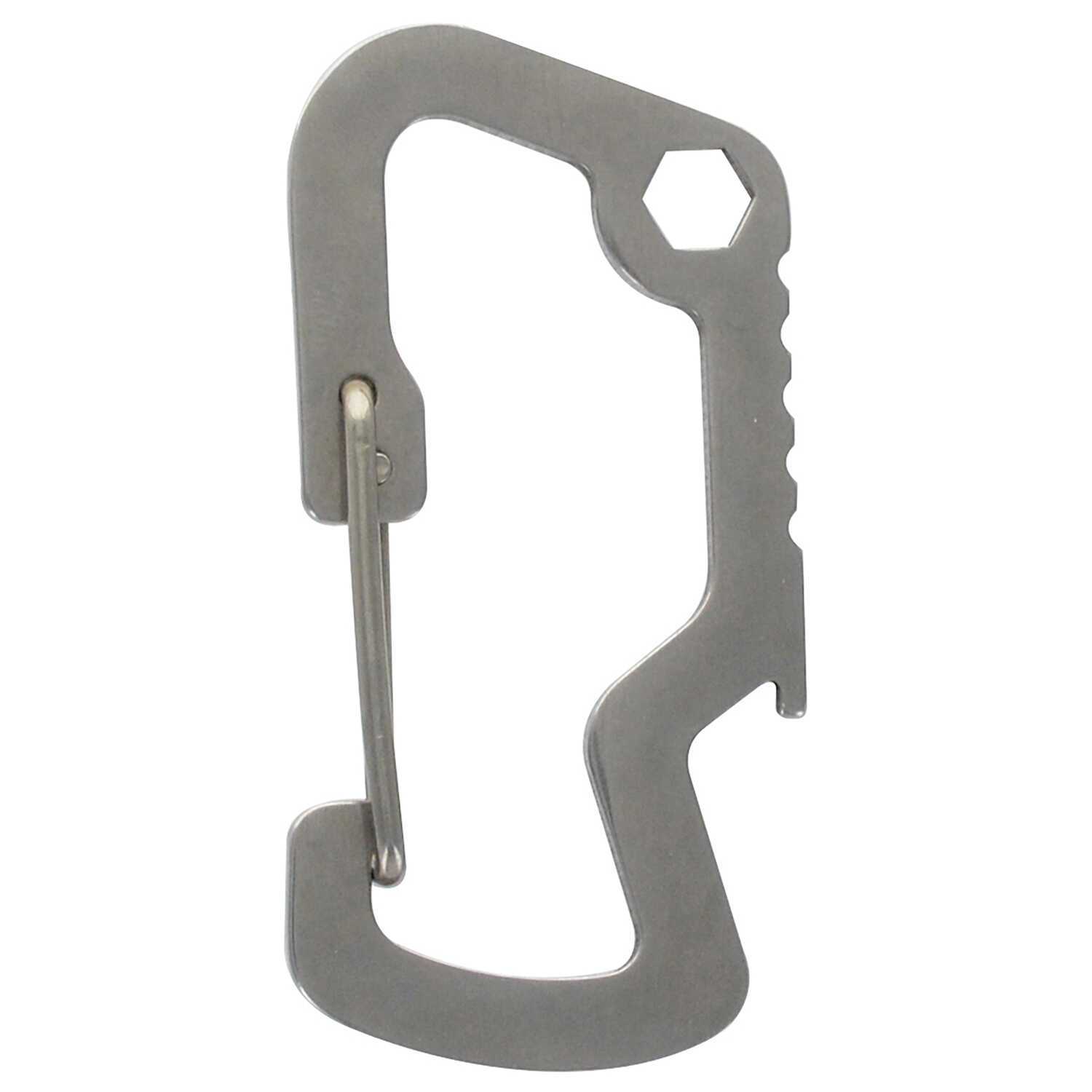 Hillman  Metal  Silver  Multi-Tool High End Accessories  Carabiner