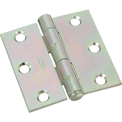 National Hardware  2-1/2 in. L Zinc-Plated  Broad Hinge  2 pk