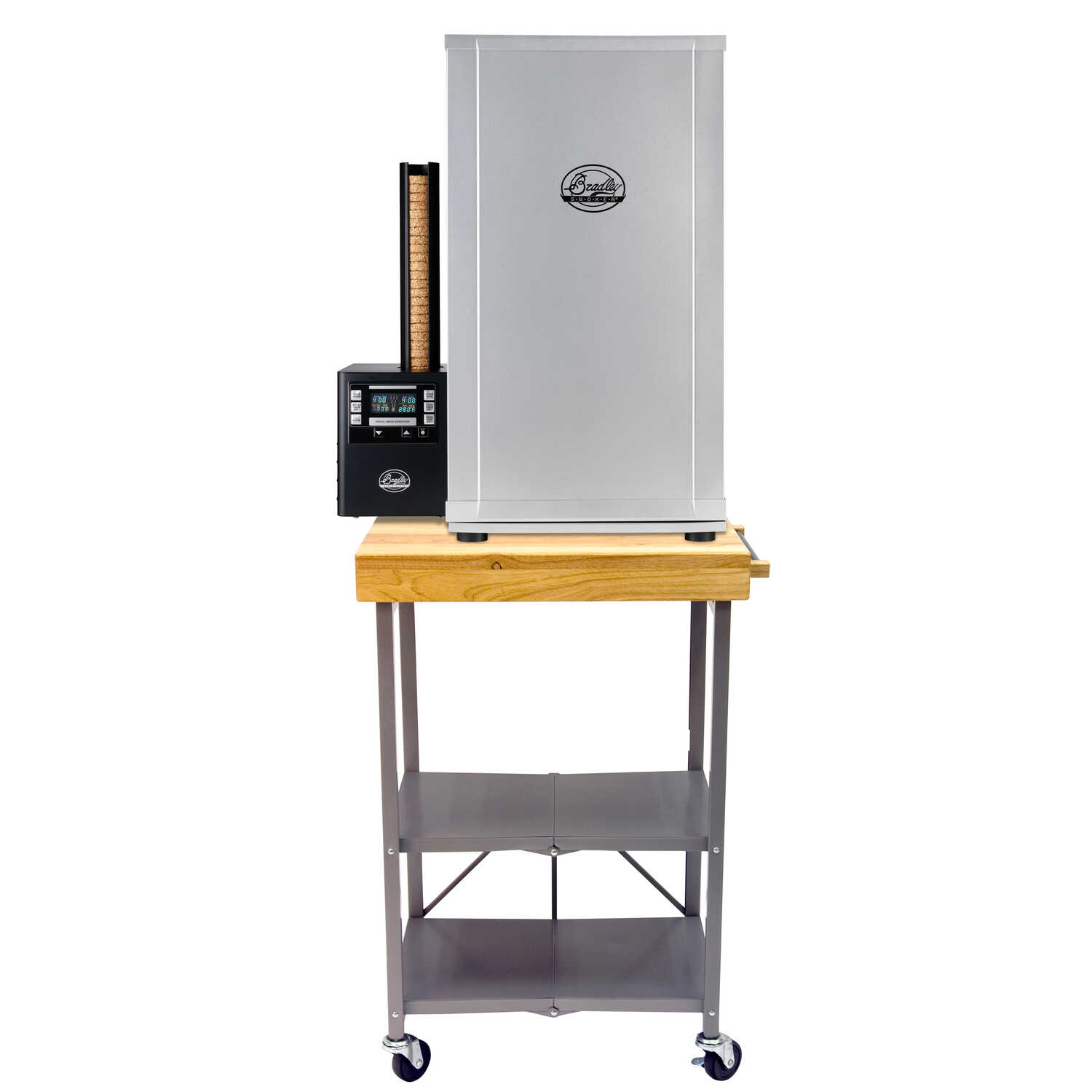 Bradley Smoker  36 in. H x 20 in. L x 6 in. W Rectangular  Folding Side Table