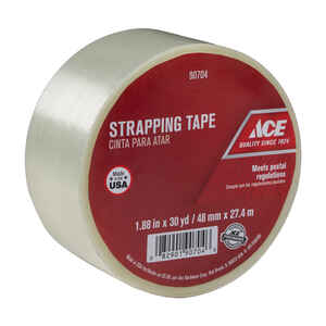 Ace  1.88 in. W x 30 yd. L Clear  Strapping Tape