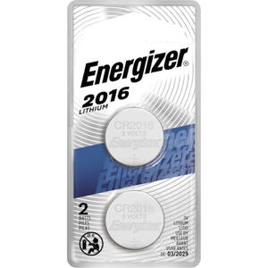 Energizer  Lithium  3-Volt  3 volt Electronic/Watch Battery  2016BP-2N  2 pk