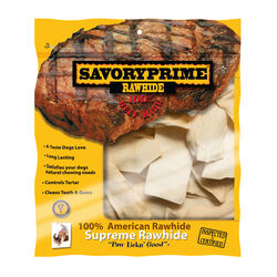 Savory Prime  All Size Dogs  All Ages  Rawhide Chips  Natural  6 in. L 1 pk