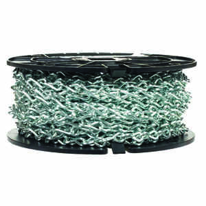 Campbell Chain  No 12 in. Single Jack  Carbon Steel  Chain  1/8 in. Dia. x 100 ft. L
