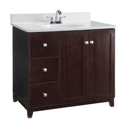 Design House  Shorewood  Single  Dark  Espresso  Vanity Cabinet  36 in. W x 21 in. D x 33 in. H