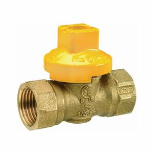 BK Products  Brass  Threaded  Gas Ball Valve