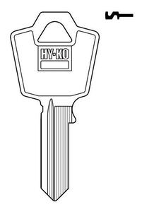 Hy-Ko  Automotive  Key Blank  Single sided For Fits ESP Mailbox Locks