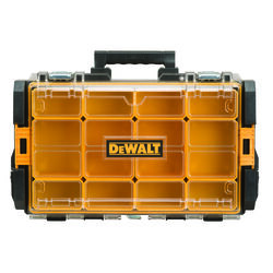DeWalt  ToughSystem  21 in. Plastic  Black/Yellow  Organizer with Clear Lid  13 in. W x 4 in. H Blac