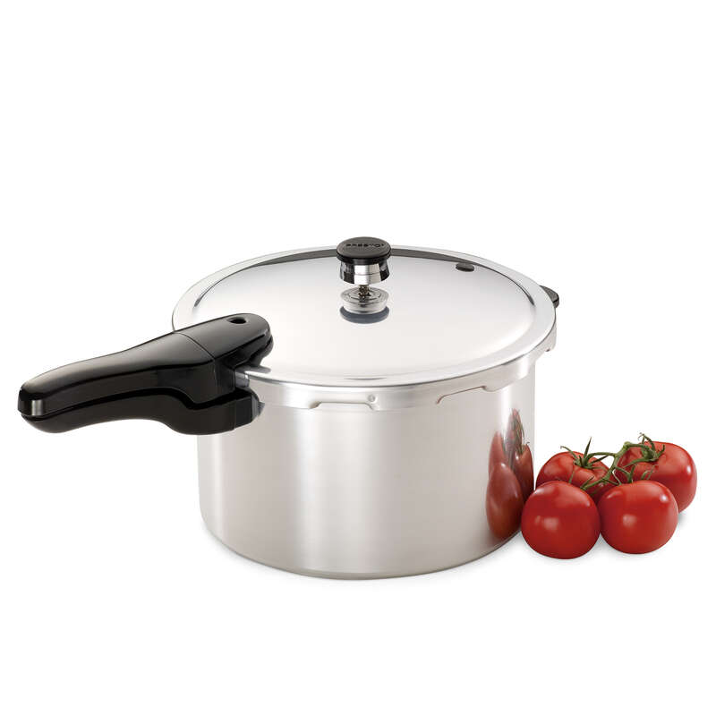 National Presto  Polished Aluminum  Pressure Cooker  8 qt.