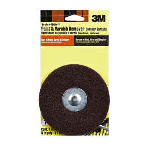 Scotch-Brite  5 in. Aluminum Oxide  Hook and Loop  Paint and Varnish Remover Disc  Medium  1 pk