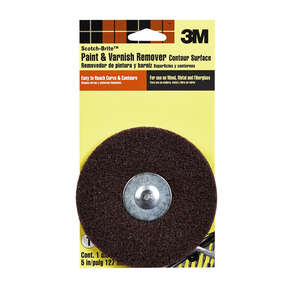 Scotch-Brite  5 in. Aluminum Oxide  Medium  1 pk Paint and Varnish Remover Disc  Hook and Loop