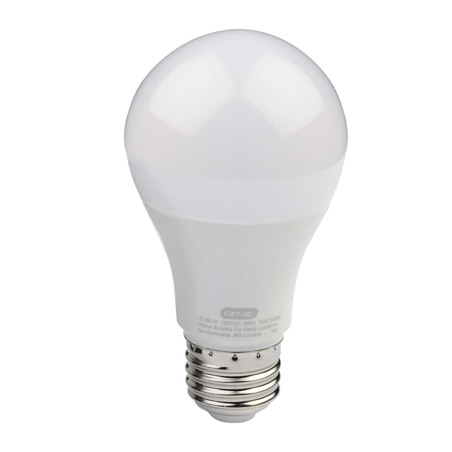 Genie  Title 20 Approved  A19  E26 (Medium)  LED Garage Door Bulb  Warm White  60 Watt Equivalence 1