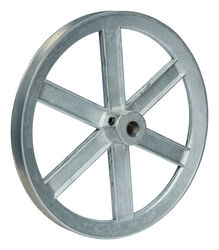 Chicago Die Cast  10 in. Dia. Zinc  Single V Grooved Pulley