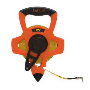 Lufkin  0.5 in. W x 100 ft. L Reel Rewind Tape Measure  Orange  1 pk