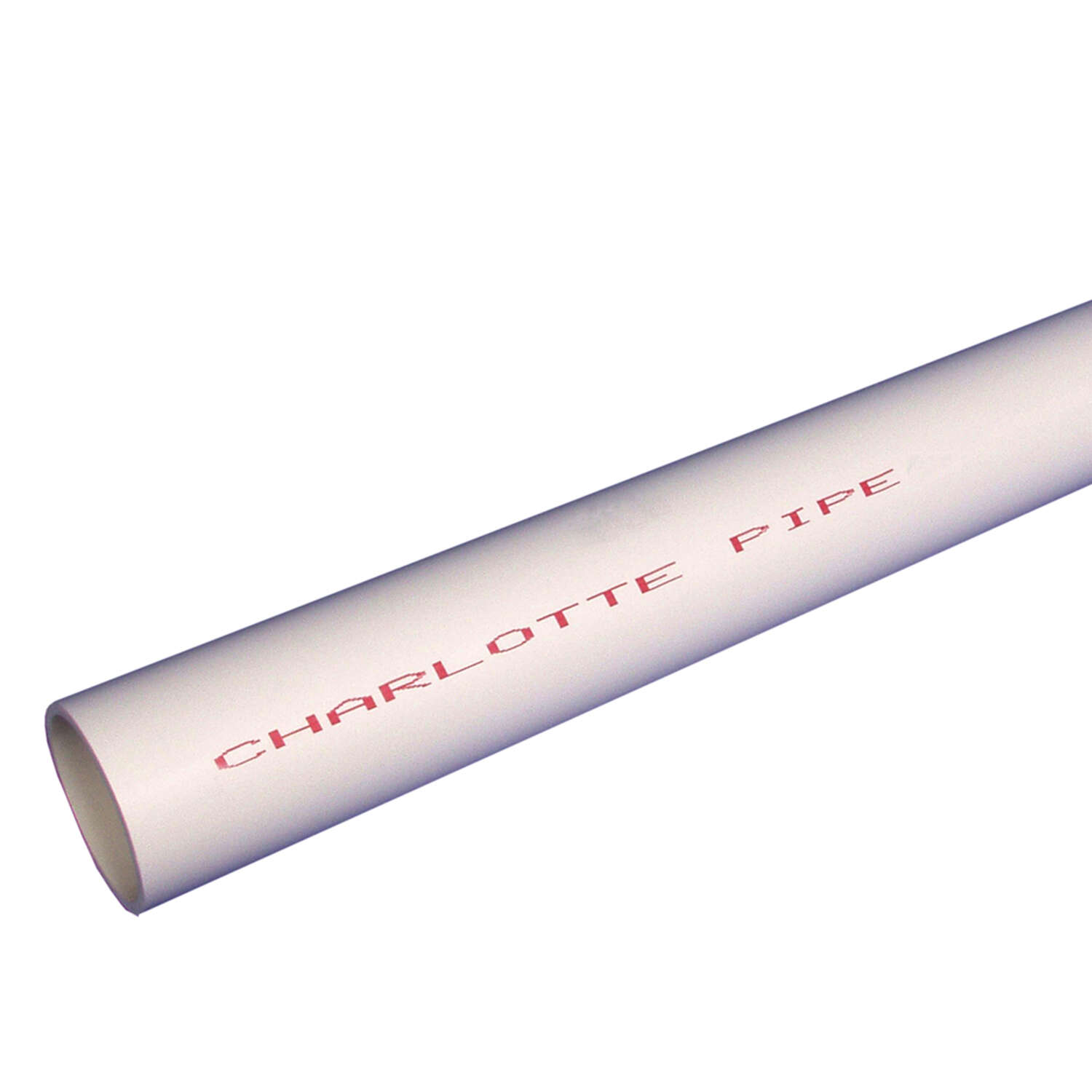 Charlotte Pipe  Schedule 40  PVC  Pipe  1 in. Dia. 5 ft. Plain End  450 psi