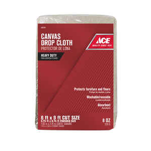 ACE  6 ft. W x 9 ft. L Canvas  Drop Cloth  1 pk