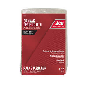 ACE  Heavy Weight  Canvas  Drop Cloth  6 ft. W x 9 ft. L
