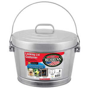 Behrens  4 gal. Galvanized Steel  Garbage Can  Animal Proof/Animal Resistant