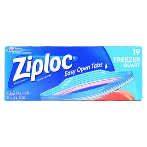 Ziploc  Freezer Bag  19 pk Clear